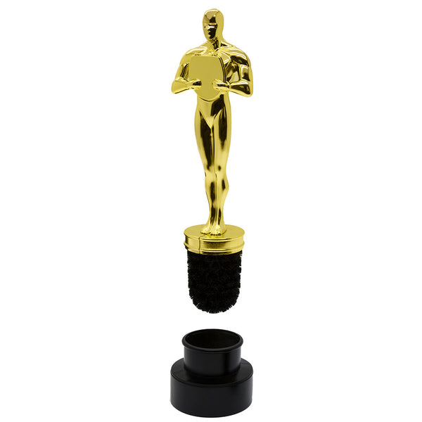 Thumbs up oscar award toilet cleaner brush