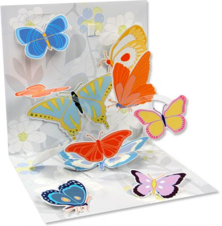 Up with paper 968 flutter 3d pop up card