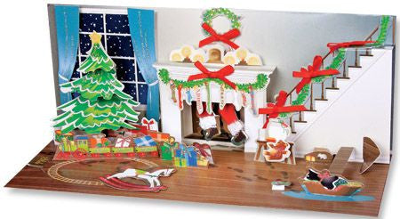 up with paper a025 midnight room christmas greeting card