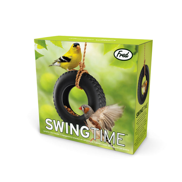 Fred and Friends swing tire bird feeder