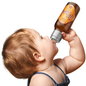 Fred and Friends lil lager baby bottle