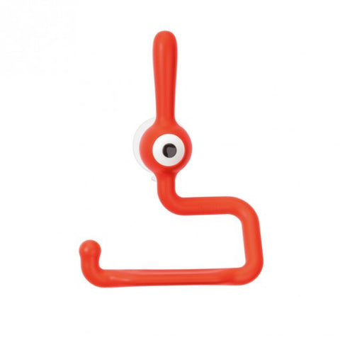 koziol toq toilet paper holder tangerine orange