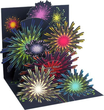 Up with paper 1146 fireworks celebration greeting card