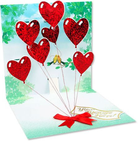 up with paper 618 heart balloons 3d pop up greeting card