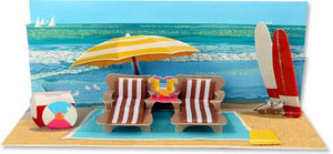 up with paper a001 beach day 3d pop up card