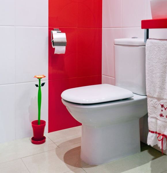 Vigar red Flower toilet brush