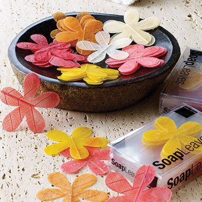 Design Ideas daisy flower soap leaves
