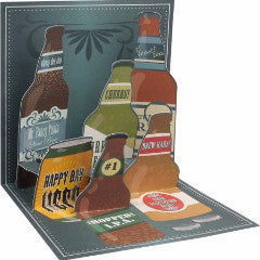 Up with paper 1157 craft beer 3d pop up card