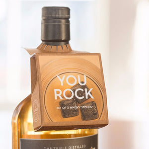 Teroforma bottleneck mini you rock soapstone whisky cubes