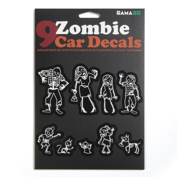 gamago zombie family car decals