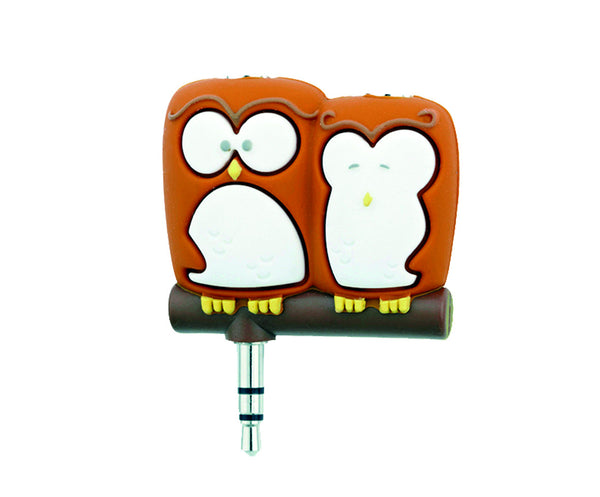 gift republic spinning hat owls headphones splitter
