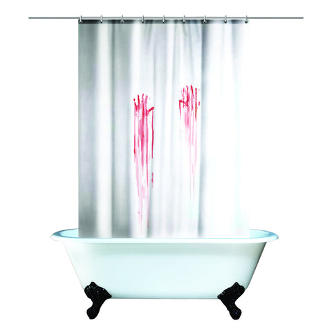 Gift republic spinning hat blood bath shower curtain