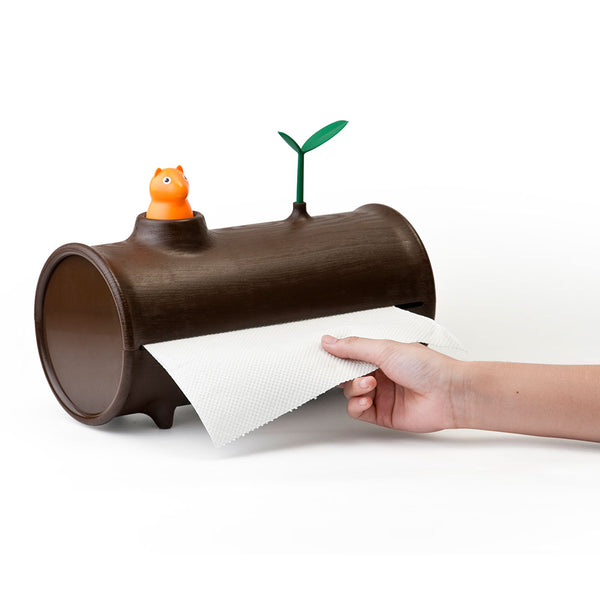 Qualy log and roll paper towel holder