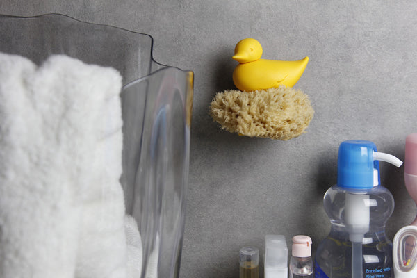 Qualy duck sponge holder yellow