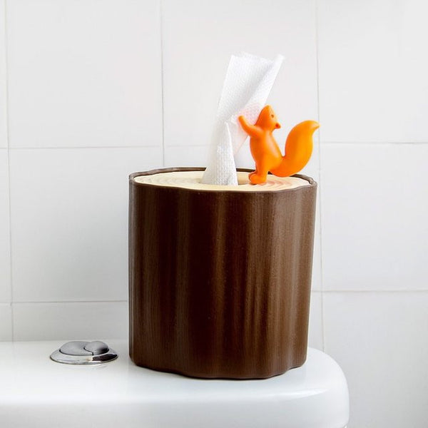 Qualy squirrel tissue log holder