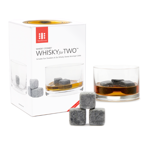 Teroforma whisky for  two soapstone set