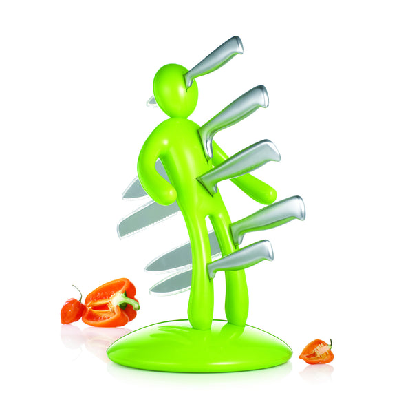 The Ex knife set Green by RICBS Raffaele Iannello
