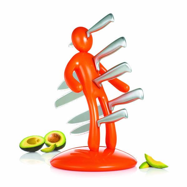 The Ex knife set Orange by RICBS Raffaele Iannello