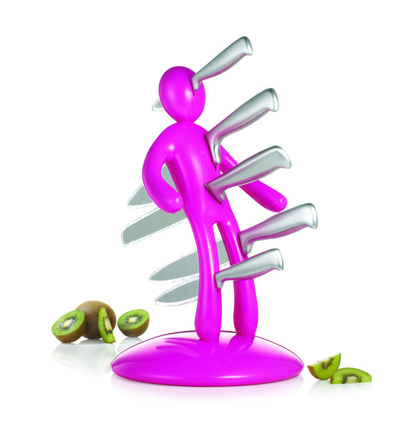 The Ex knife set Pink by RICBS Raffaele Iannello