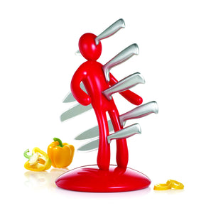 The Ex knife set Red by RICBS Raffaele Iannello
