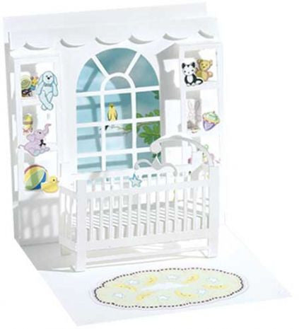 up with paper 594 baby crib 3d pop up card