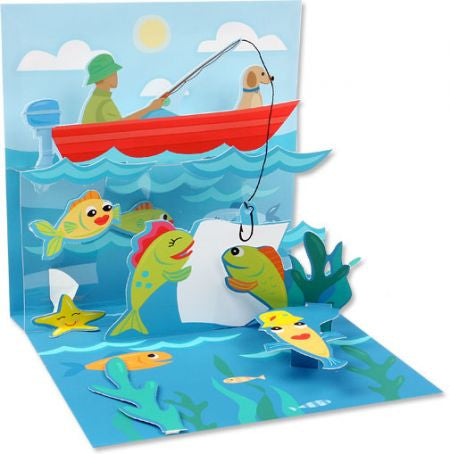 Up with paper 971 catch a fish 3d pop up card