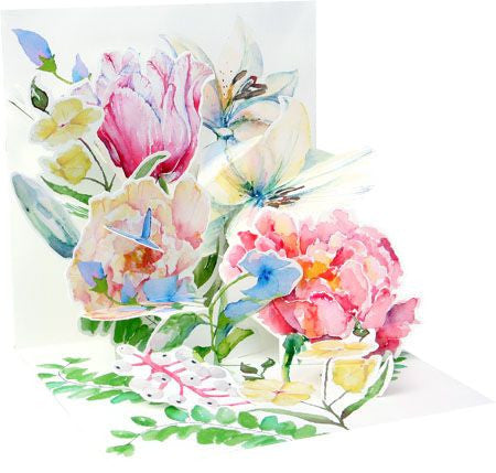Up with paper 1126 watercolor bouquet card