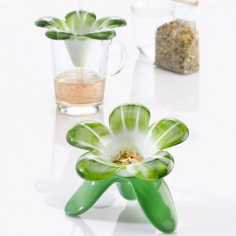 Koziol audrey tea strainer green