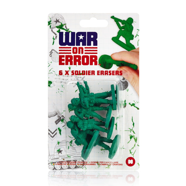 Just Mustard war on errors toy soldiers erasers