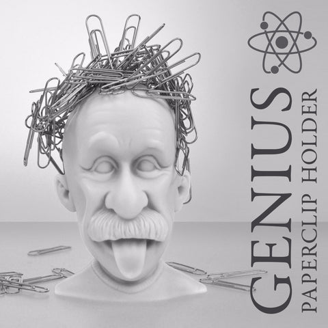 Just Mustard genius einstein paperclip holder