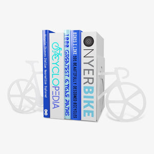 Just Mustard white bike bookends