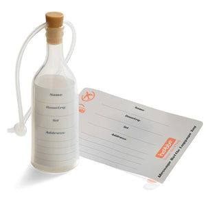 Streamline message in bottle luggage tag