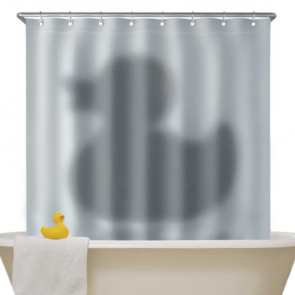 Just Mustard duck shadow shower curtain