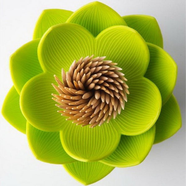 Qualy green lotus  toothpick holder