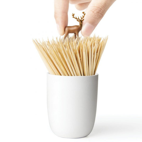 qualy deer meadow toothpick holder