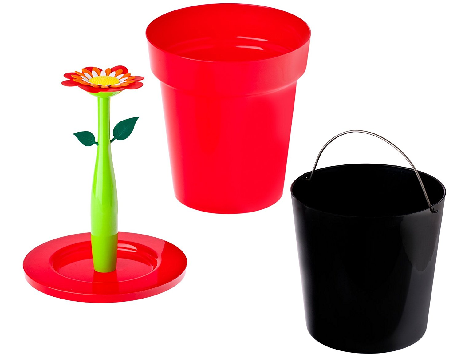 Vigar Flower red bin