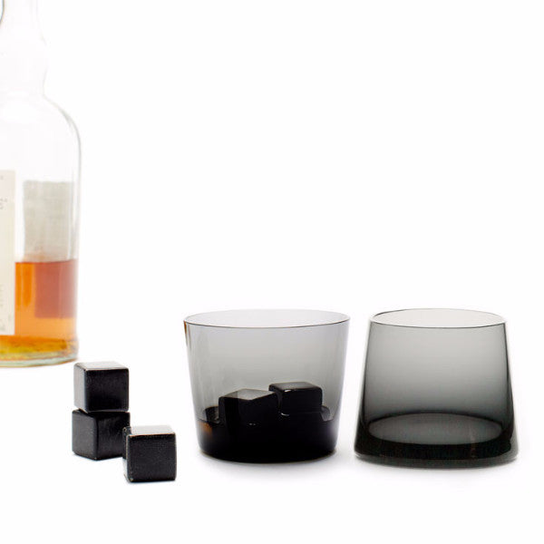 Teroforma whiskey lover soapstone stones set black