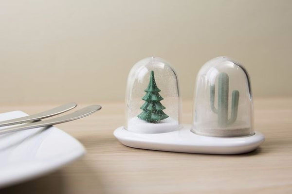 Qualy winter summer salt and pepper shakers