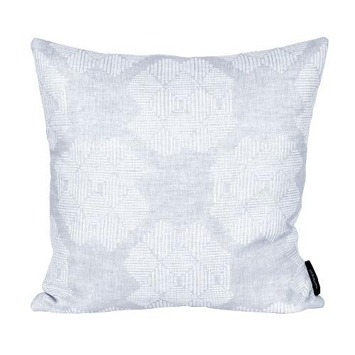 Square Desert Roses cushion, grey