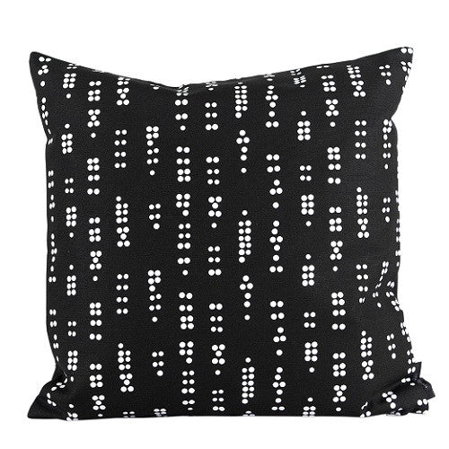 Canvas cushion Dot Black