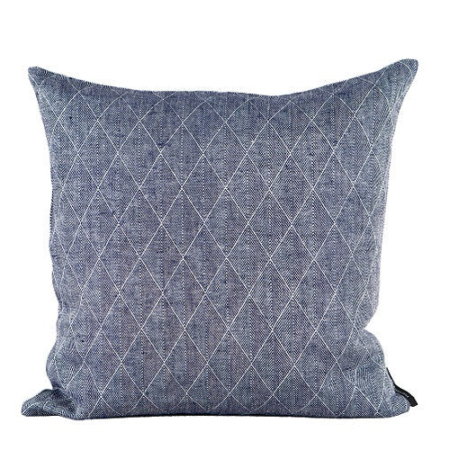 Square cushion 100% linen, Dark Blue