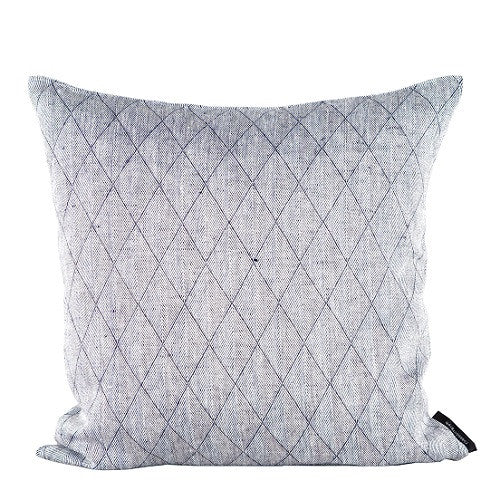 Square cushion 100% linen, Light Blue