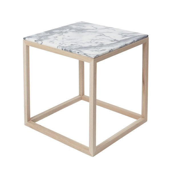 CUBE table- Natural/Tigerskin