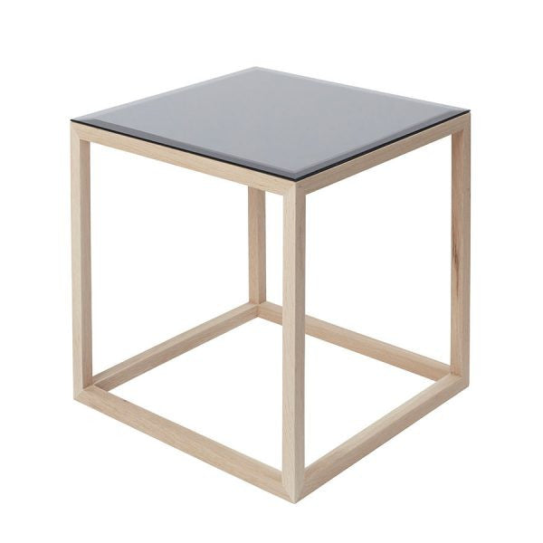 CUBE table- Natural/mirror