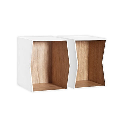 FLIP shelf inside oak/white