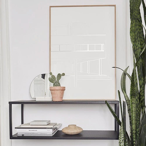 GRID Wall Shelf, Black