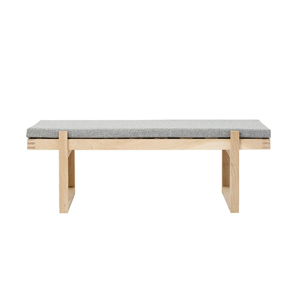 Minimal Bench, Natural Oak & Fabric
