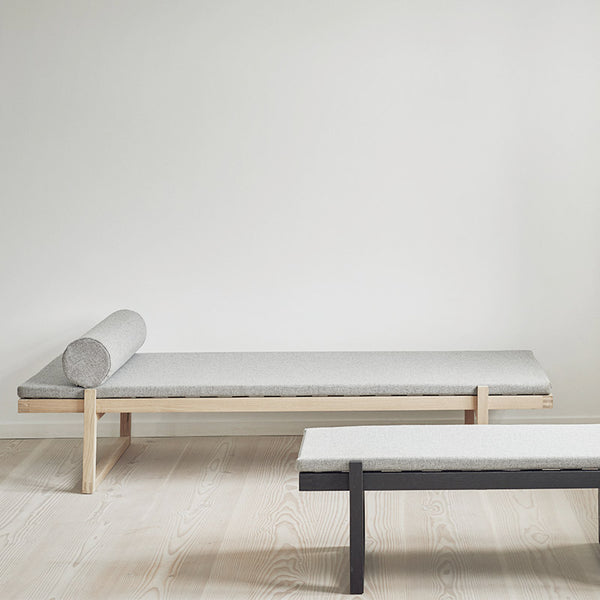 Minimal Daybed, Black Oak & Fabric