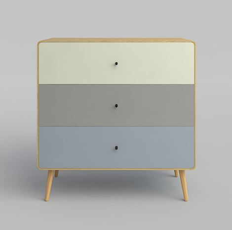 THE BOX THREE dresser - Color.