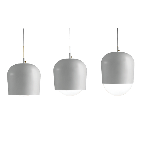 BLIND Lamp, Soft Grey